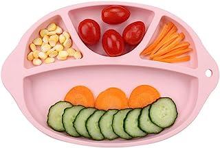 VALUEU - Platos de Silicona divididos para bebé, portátil, Antideslizantes, con Ventosa, sin BPA, Aprobado por la FDA, para Cena de bebé