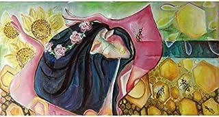"""Pintura Grande Lienzo al Óleo Arte Abstracto Moderno """"REINA DE LAS ABEJAS"""" por DOBOS, Cuadro Original para Decoración del ..."""