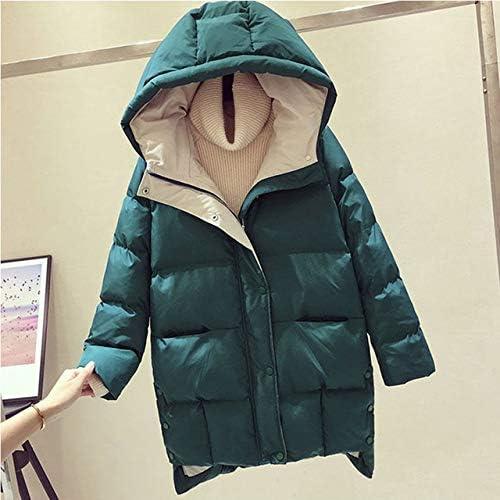 New popularity DESTRB Long sale Padded Hooded Parka Mid-Length Coat Women Warm Loose