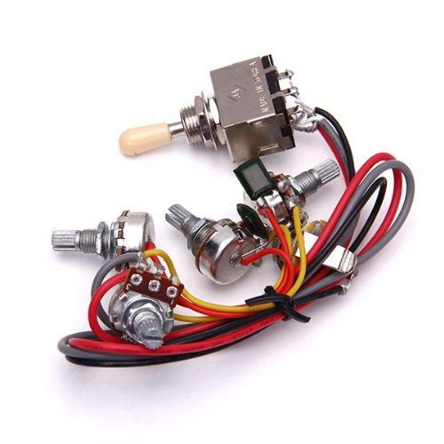 perfeclan Cableado de Circuito Selector de Pastillas de Palanca de 3 Cajas 2V / 2T / 1J para Guitarra Eléctrica LP