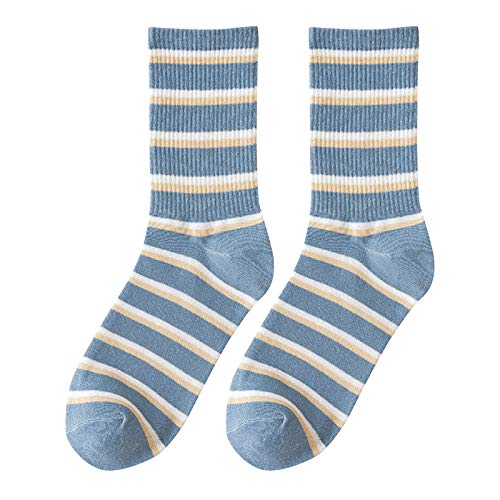 Hunpta@ Damen Socken Winter Warm Streifen Gitter Serie Mode Frauen Atmungsaktivität Dicke Mittelstrumpf