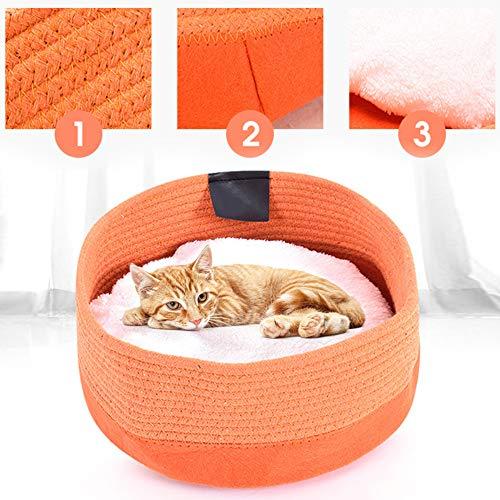 Redxiao 【𝐎𝐟𝐞𝐫𝐭𝐚𝐬 𝐝𝐞 𝐁𝐥𝐚𝐜𝐤 𝐅𝐫𝐢𝐝𝐚𝒚】 Cama de Tela para Gatos, Cama para Mascotas, Cama extraíble respetuosa con la Piel para Perros pequeños de Four Seasons, Gatos(Orange)