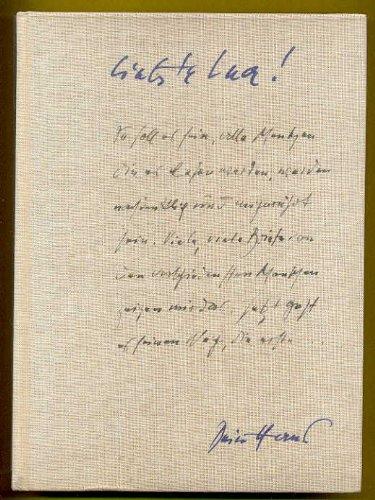 Künstlerbriefe aus den Jahren 1926 bis 1957, Mit einem Vorwort herausgegeben von Bernhard Wächter und 60 Abb. auf Kunstdruckpapier,