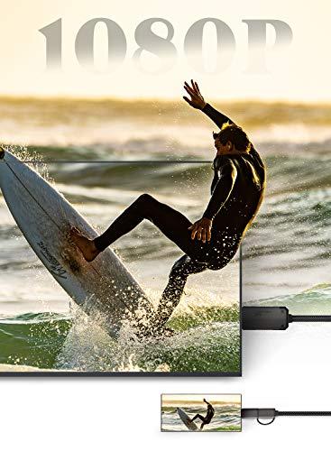 YEHUA USB C/Micro USB zu HDMI Kabel 2-in-1 Unterstützt Netflix, 6,6 Fuß MHL zu HDMI Adapter 1080P HD HDTV TikTok Spiegelung für Xiaomi/Oneplus/Huawei Alle Smartphones zu TV/Projektor/Monitor