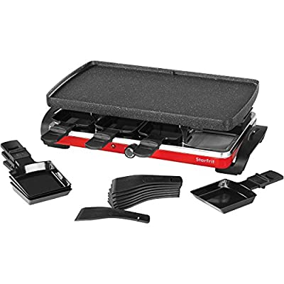 THE ROCK by Starfrit 024403-002-0000 Electric Raclette/Party Grill Set, Black
