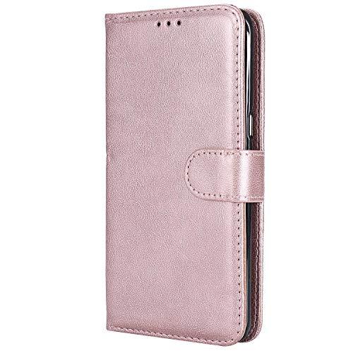 DENDICO Cover Galaxy S6 Edge Plus, Premium Portafoglio Custodia in Pelle, Flip Libro Custodia Slim TPU Bumper Magnetica Caso per Samsung Galaxy S6 Edge Plus - Rosa