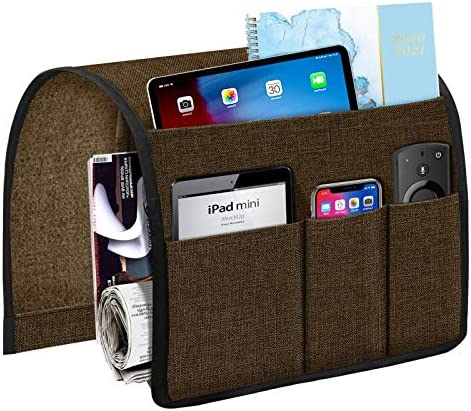 Joywell Armchair Caddy 5 Pockets Remote Holder on Couch Chair Arm for TV Remote Control Sofa product image