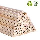 Lot de 55 Tiges longues en bambou pour loisirs créatifs, 30cm 6mm / 0.25inch bois