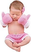 Bebé conjunto de guantes de boxeo de ganchillo hecho a mano de punto recién nacido Fotografía Prop Pantalones Trajes