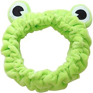 Frog Spa Fascia per capelli Trucco elastico a tesa larga Fascia per capelli antiscivolo Lavaggio viso Fasce per capelli mo...