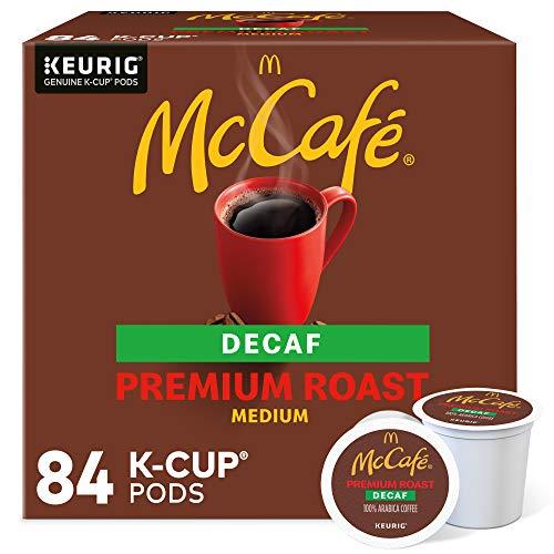 McCafe Decaf Premium Medium Roast K-Cup Coffee Pods 84 Count