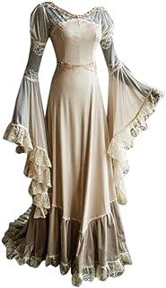 Modaworld Eleganti Vestito da Donna Carnevale Vintage costoume Cosplay Medievale Rinascimentale Abito Manica Lunga Vestiti...
