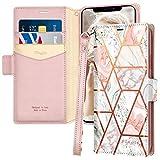 Fingic iPhone 11 Pro Case, iPhone 11 Pro Case Marble Pu