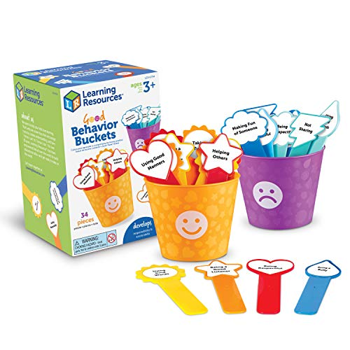 Learning Resources Good Behaviour Buckets, Social Emotional Toy, Preschool Toy, Ages 3+, Multi