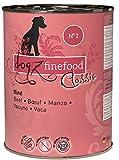 dogz finefood Cibo umido per cani – N° 2 – cibo umido per cani e cuccioli – senza cereali e senza zucchero – elevata percentuale di carne, 6 x 400 g