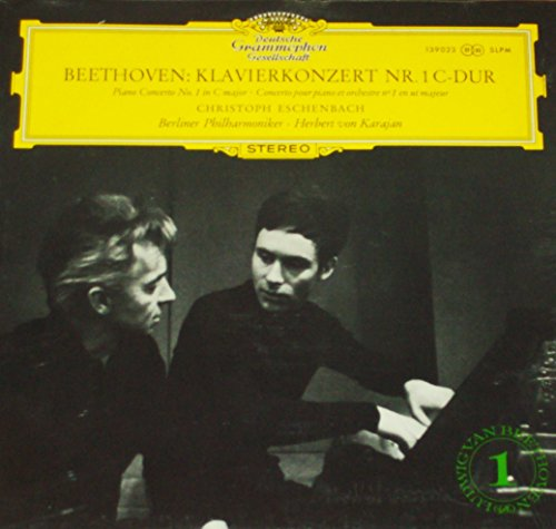"""Beethoven - Piano Concerto No. 1 in C Major - 12"""" vinyl LP - Eschenbach / Karajan DGG tulip 139023 SLPM"""