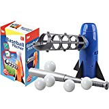 野球 おもちゃ 野球マシン 子供用野球練習 誕生日プレゼント 野球バット ピッチングマシーン トレーニングスポーツセット 半自動ランチャー 無料のラケットとボール 青い