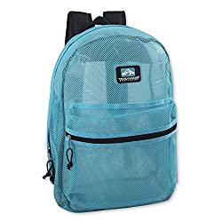 in budget affordable Transparent Trailmaker mesh backpack for school, beach, travel with padded shoulder straps …