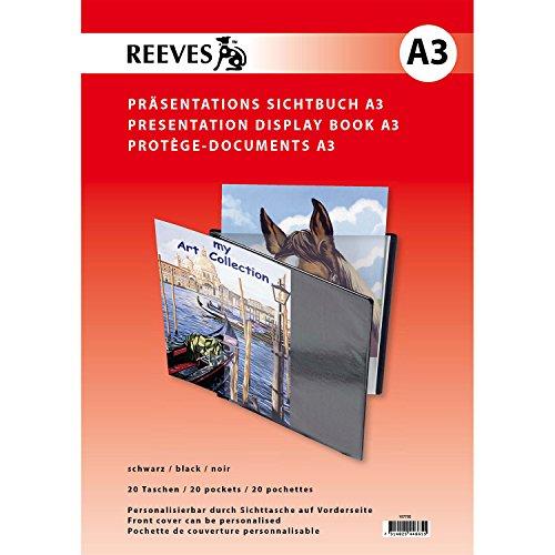 Reeves A3 mit 20 klaren Sichthüllen zum Personalisieren von Präsentationen und Büchern Sichtbuch, Kunststoff, Nicht Zutreffend, 31x44x2 cm