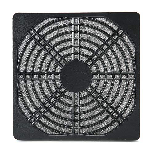Rejilla para filtro de polvo de ventilador de 10 piezas, carcasa de malla lavable a prueba de polvo, enfriador de chasis de computadora, con placa frontal extraíble, placa trasera, filtro medio, negro
