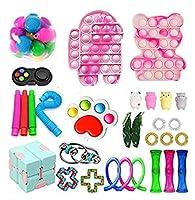 Fidget Toy Pack、感覚フィジットパック、ポップバブルフィジットおもちゃセット、子供の大人のためのストレスリリーフのフィジットのおもちゃの和解を和らげる (Color : C-fidget Toy)