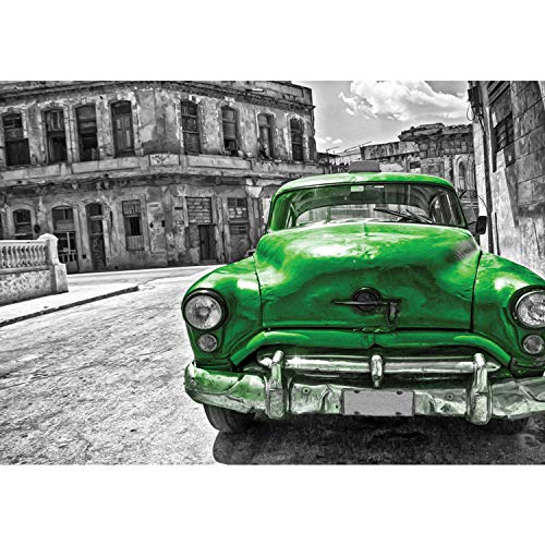 Vlies Fototapete PREMIUM PLUS Wand Foto Tapete Wand Bild Vliestapete - Oldtimer Auto Kuba Havanna - no. 2225, Größe:368x254cm Blueback Papier