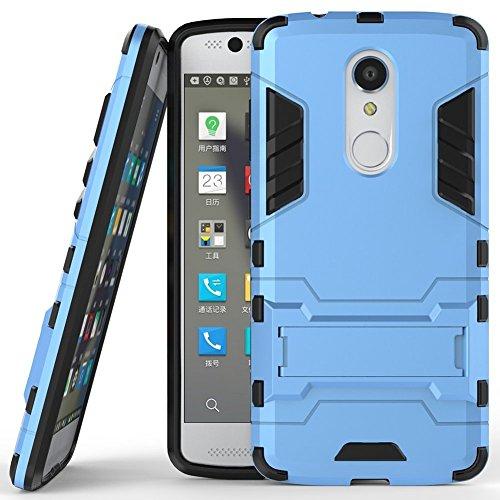 Hülle für ZTE Axon 7 Mini (5,2 Zoll) 2 in 1 Hybrid Dual Layer Shell Armor Schutzhülle mit Standfunktion Case (Blau)