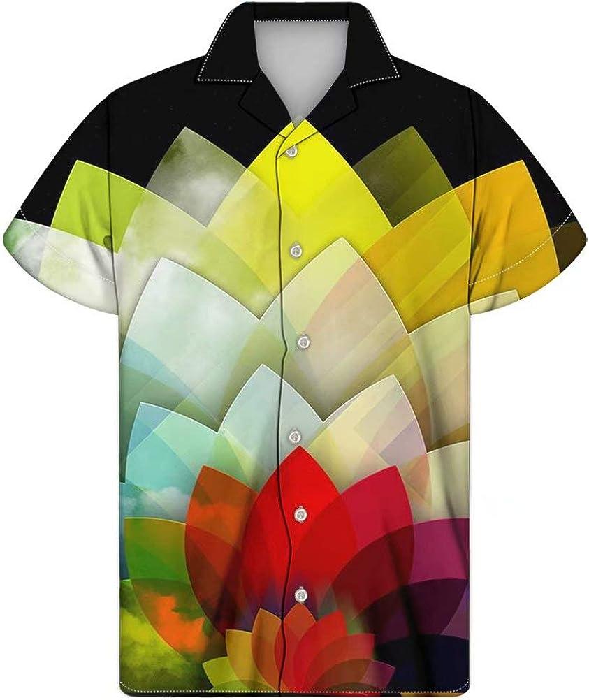 FOR U DESIGNS Beach Men's Hawaiian Aloha Short Sleeve Summer Shirt Plus Size 2XS-4XL