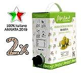 6 litri di Olio Extravergine di Oliva MARTINO 100% Italiano - Puglia - pack 2x contenitori Bag in Box di 3 litri con rubinetto