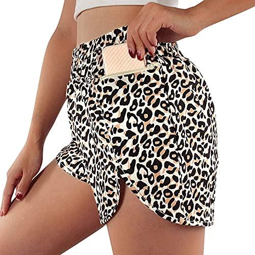 2021 Nuevo Mujer Pantalones corto, Elásticos Leggings mallas Yoga Pantalones Color sólido Moda cortos Pantalones Fitness Mallas Gym Suelto Pants Cintura Alta Deportivos Running Aptitud Pantalon