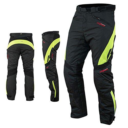 A-Pro Pantaloni Impermeabile Moto Imbottitura Termica Estraibile Traspirante Fluo 34
