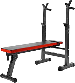 Yosoo Bench Exercise Adjustable Folding Home Gym Exercise Fitness Weight Lifting Press Bench for Strength Exercise