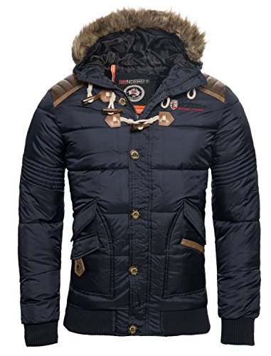 Geographical Norway Herren Winter Jacke Steppjacke Parka Belphegor Winterjacke [GN-Belphegor-Navy-Gr.XL]