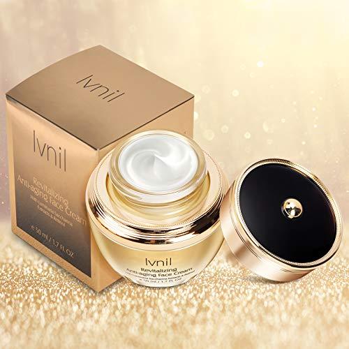 Ivnil Crema Facial con ÁCIDO HIALURÓNICO, VITAMINA C, Crema Facial Hidratante Retinol, Cuidado Facial Antiarrugas-Antienvejecimiento 50ml