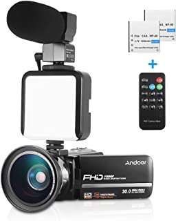 Andoer HDV-301LTRM 1080P FHD Digital Video Camera Camcorder DV Recorder IR Nightshot 30MP 16X Digital Zoom 3.0 Inch LCD To...