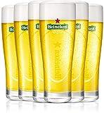 HEINEKEN | Copas de cerveza | Elipse | Juego de 6 | 25 cl | 250 ml | Vasos de media pinta | Logo verde original