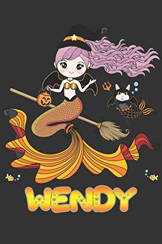 Wendy: Wendy Halloween Beautiful Mermaid Witch, Create An Emotional Moment For Wendy?, Show Wendy You Care With This Personal Custom Gift With Wendy's Very Own Planner Calendar Notebook Journal