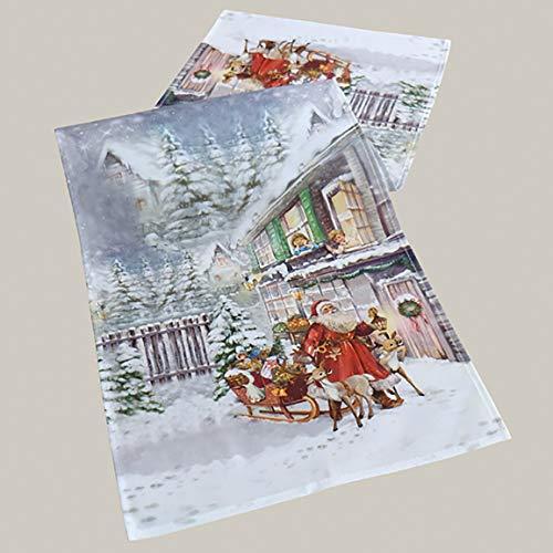 Kamaca Serie Christmas Time hochwertiges Druck-Motiv mit weihnachtlichem Motiv Eyecatcher in Winter Weihnachten (Tischläufer 40x140 cm)