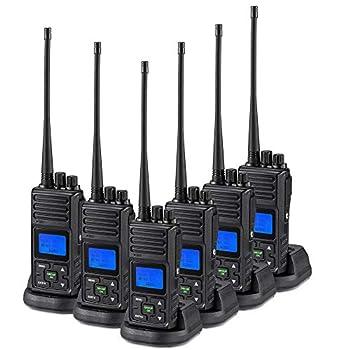 2 Way Radio 5 Watt Long Range SAMCOM 20 Channels Programmable Walkie Talkie,Rechargeable Hand-held UHF Business 2 Way Radio for Skiing Hiking Hunting,6 Packs
