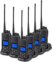 2 Way Radio 5 Watt Long Range, SAMCOM 20 Channels Programmable Walkie Talkie,Rechargeable Hand-held UHF Business 2 Way Radio for Skiing Hiking Hunting,6 Packs