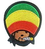 Parches - Reggae Stoner Weed cannabis Marijuana - colorido - 7.6x8.9cm - termoadhesivos bordados aplique para ropa