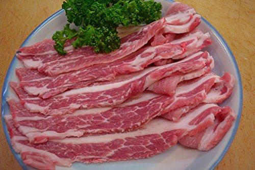 サムギョプサル 用 国産 豚バラ スライス 厚切り 600g