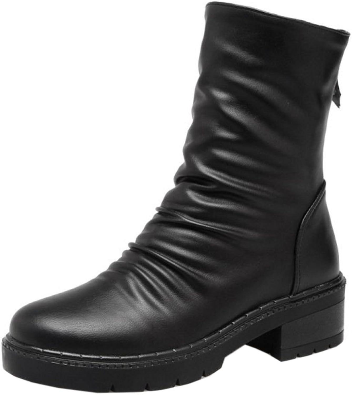 FANIMILA Women Solid Boots Zipper