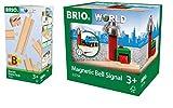 BRIO World 33394 - Schienen Starter Pack B, bunt & World 33754 Magnetisches Glockensignal – Eisenbahnzubehör Holzeisenbahn – Kleinkinderspielzeug empfohlen für Kinder ab 3 Jahren -