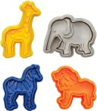4Pcs/Set Plunger Cutters Fondant Cake Mould Biscuit Cookie Wild Animal Elephant Sugarcraft Decor Craft by Xiaolanwelc