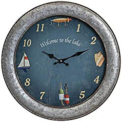 Cooper Classics Westlake Aged Silver 18 Round Wall Clock