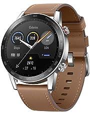 HONOR MagicWatch 2 Smartwatch, 1,39 inch Amoled-display, bluetooth oproep, activity tracker, 15 fitnessmodi, 5 ATM waterdicht, 14 dagen batterijduur, sportsmartwatch, bruin