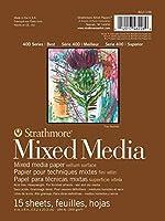 "Strathmore Mixed Media Paper Pad 6""X8""-15 Sheets (並行輸入品)"