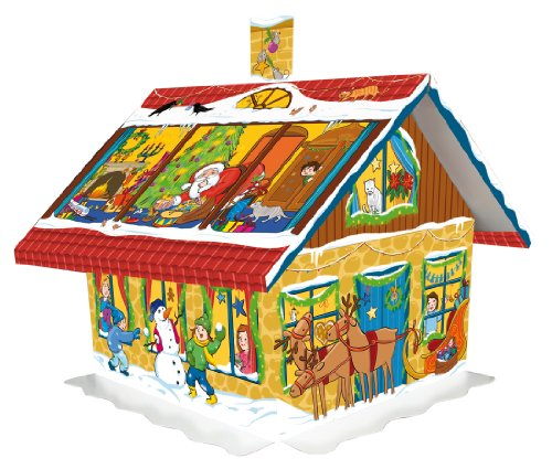 3D House German Chocolate Advent Calendar by Windel