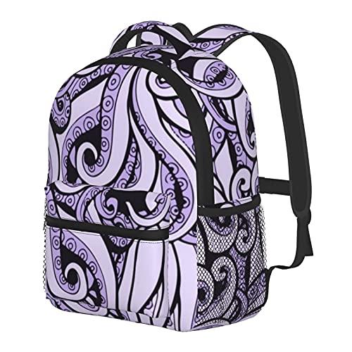 Ursula - Mochila inspirada en la bruja del mar para niños y niñas, mochila escolar para jardín de infancia, preescolar, bebé, guardería, bolsa de viaje con clip para el pecho